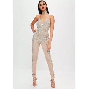 MissguidedXcarlibybyel embellished jumpsuit size4